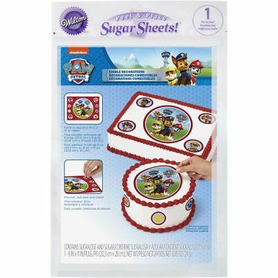 Wilton 710-7910 Paw Patrol Dog Edible Images Party Cake Toppers Decorating Kit