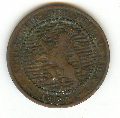 Netherlands 1880 One Cent