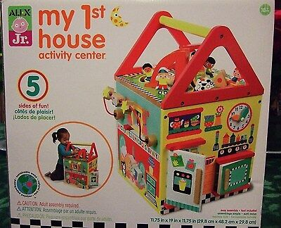 ALEX Jr. My First/1st House Wood Learning Activity Center Cube - Educational Toy