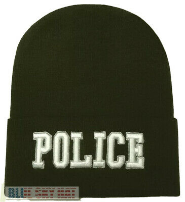 cde210e9186 Police Officer Law Enforcement Agent Swat Winter Beanie Knit Watch Cap Ski  Hat