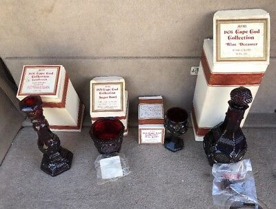 Avon 1876 Cape Cod Ruby Red Mixed Lot