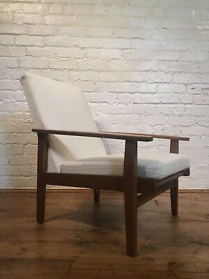 Vtg Mid century Armchair Chair Cocktail Retro For Restoration 50s 60s 70s