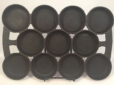 Rare Antique Griswold No. 2 Cast Iron Muffin Pan 11 Cup Hard To Find!