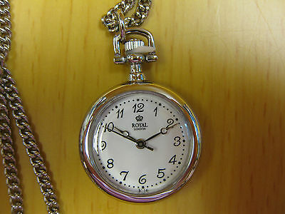 NEW Ladies Open Face Necklace Watch  2 year Guarantee. Can Be Engraved On Back