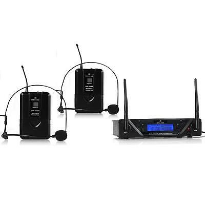 Uhf Wireless Microphone Receiver Handsfree Head Set Mic *free P&p Special Offer