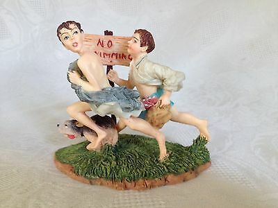 Norman Rockwell No Swimming Collectible Figurine