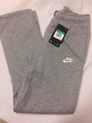 NWT NIKE  Boys Sportswear Fleece Pants   805496 063 Heather Grey Gray Size XL