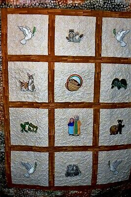 Handmade Baby Noah's Ark Quilt by Arlene's Quilts
