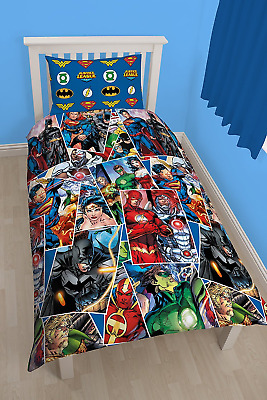 Monde du personnage Justice League Invincible simple Rotary Duvet Set