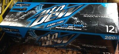 1- 12oz 12pk of mountain dew game fuel arctic burst cans 2017