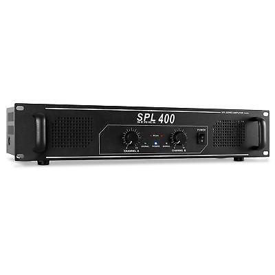 "Skytec Spl 400 Watt Dj Pa Hifi Disco Amplifier 19"" 2U *free P&p Special Offer"