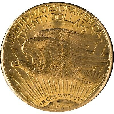 1927 USA St Gauden $20 Gold Coin Almost Uncirculated