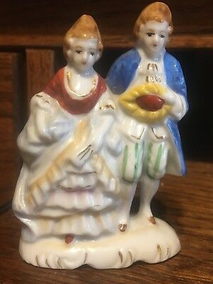 Vintage Miniature Colonial Figurine Couple Made in Occupied Japan