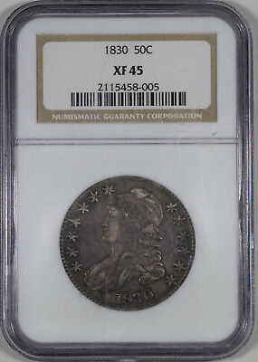 """1830 50c Capped Bust Half Dollar NGC Certified XF45 """"Crusty old original coin"""""""
