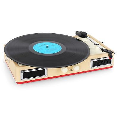 Home Stereo Suitcase Record Player Built In Hifi Stereo Speakers * Free P&p Uk