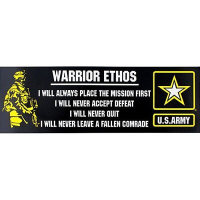 US Army Warrior Ethos Bumper Sticker
