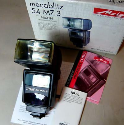 Metz Mecablitz 54 MZ 3 N electronic flash for Nikon. Made in Germany NEW !