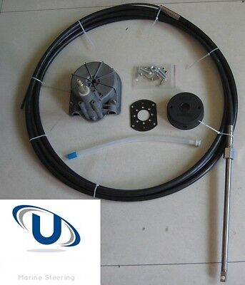Universal Boat Steering Box Kit 14FT ~ 4.26M Cable Teleflex Multiflex Compatible