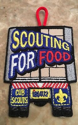Cub Scout Scouting for Food Boy Scout Patch BSA