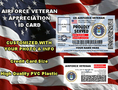 US Air Force Veteran (Appreciation) ID Card / Badge Military United States USA