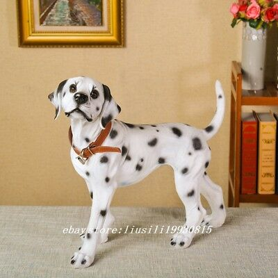 LUCKY Dalmatian DOG Hand Painted Resin Figurine Statue