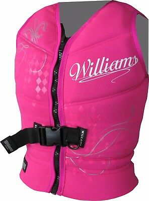 WILLIAMS Ladies Womens Water Ski ZONE Buoyancy Neoprene Vest NEW