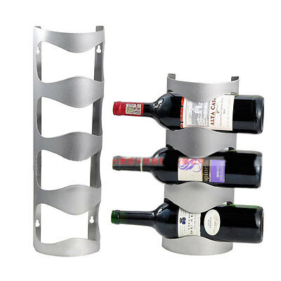Stainless Steel Wine Rack Wall Mount Bar Decor Towel Wine Bottle Holder 6909 HC