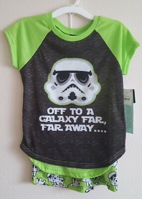 Star Wars StormTrooper Pajama short set Green Girls Size Large Target