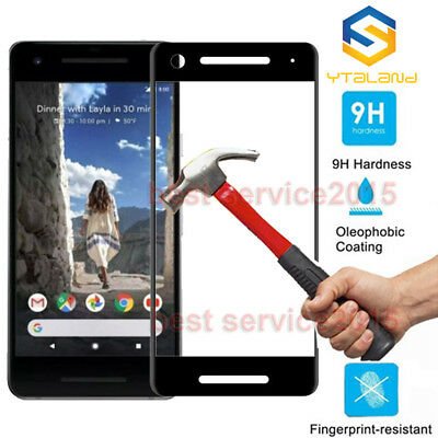 3D Full Cover 9H+ Tempered Glass Film Screen Protector For Google Pixel 2