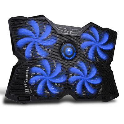 """Marvo 15.6-17"""" 4 Fans Double USB Univeral Computer Cooling Stand Laptop Pad BLUE"""