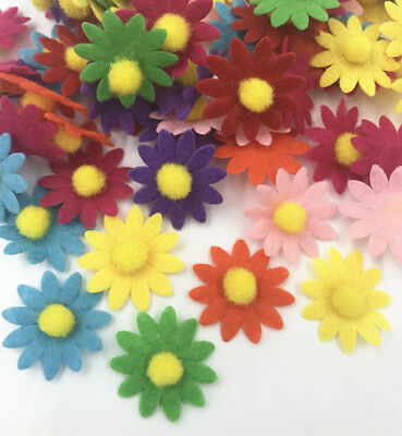 Hair ball flower shape Felt applique Accessories accessories Sewing 23mm