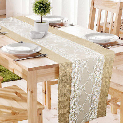 Hessian Natural Burlap Jute Table Runner for Vintage Rustic Wedding Party Event