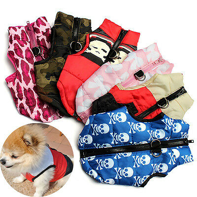 Pet Dog Cat Coat Jacket Clothes Winter Warm Apparel Clothing Cute Puppy Costume