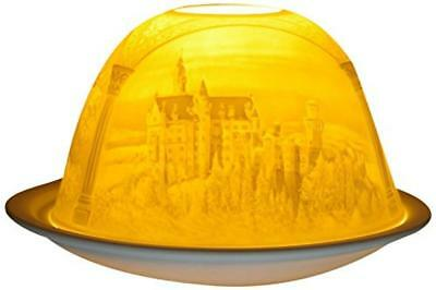 (TG. 11x11x9 cm) HIM Dom Light Castillo De Neuschwanstein Portacandela Antivento