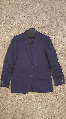 J. Crew Crosby Suit Jacket in Italian Chino - Admiral Blue - Size 38R - NWT