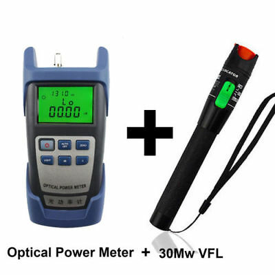 -70~+10dBm Optical Power Meter + 10 Mw Visual Fault Locator For Optic Fiber Tool