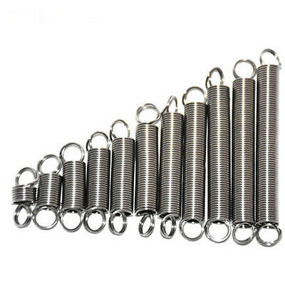 1.5mm Wire Diameter 15mm OD Extension Tension Spring Stainless Steel 40-100mm L