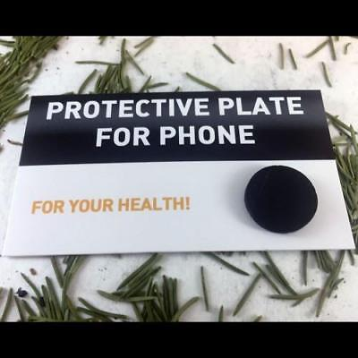 Circular shungite plate for cell phone, polished