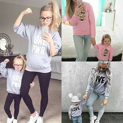 Mother Daughter Hoodies Winter Family Outfit Clothes Women Kid Girls sweater USA