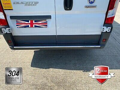 For Fiat Ducato Peugeot Boxer Citroen Relay Chrome Rear Bumper Protector S.Steel