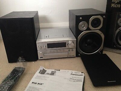 Panasonic SC-PMX5 120W DAB+ FM USB CD MP3 Micro System with iPhone/iPod Dock