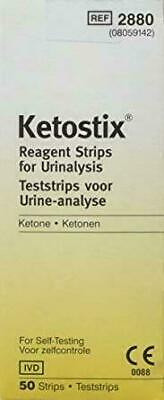 Ketostix Strips Reagent for urinalysis Ketone 50 Tests
