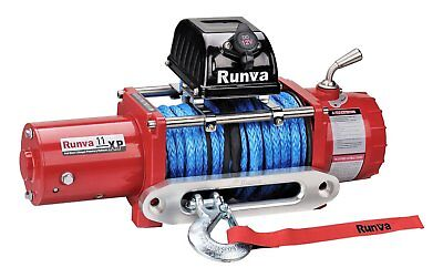 Runva 11XP 24V with Synthetic Rope - IP67 Motor (RED) 10877238866
