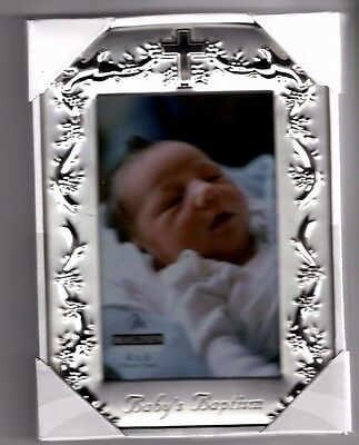 Malden Baby's Baptism Christening Photo Picture Silver 4 X 6 Frame - New