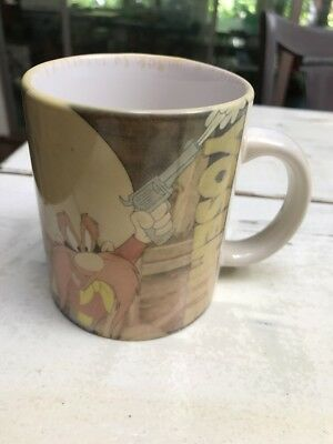 Yosemite Sam Coffee Mug Warner Bros Looney Tunes Original Color Xpres 1996