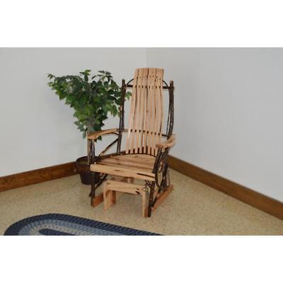 Hickory Glider Rocker Indoor Old Fashioned Traditional Quality Hand Crafted NEW