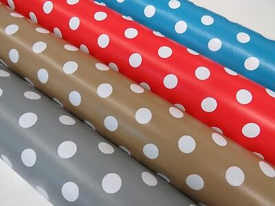 CERISE PINK Spotted Polka Dot PVC VINYL Tablecloth Oilcloth Wipe Clean 1257