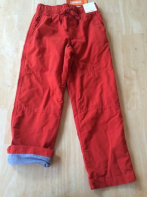 NWT Gymboree Boys Pull on Pants Jersey lined orange gymster many sizes