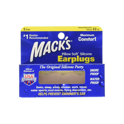 Bouchons Silicone multi-usages 2 paires Mack'sMacks