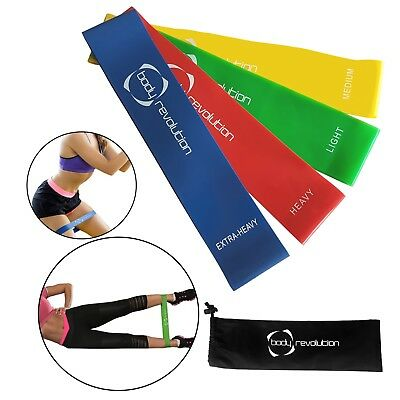 Resistance Loop Bands - Latex Exercise & Fitness Set for Home Gym & Yoga Workout
